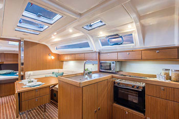 Bavaria 37 kitchen area